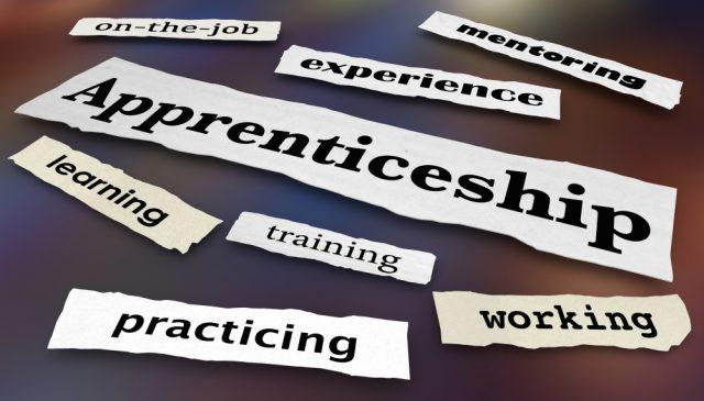 Apprenticeship newspaper headlines explaining the key benefits