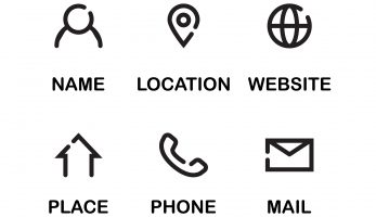 Logos used for important business information displayed in a grid format